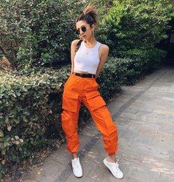 Shop Orange Cargo Pants Women UK
