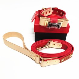 2020 collari di cani popolari Collare pelle bovina Pet originale di marchio popolare pelle conciata al vegetale legge Teddy Dog Dog Collar Traction Rope Factory Outlet collari di cani popolari economici