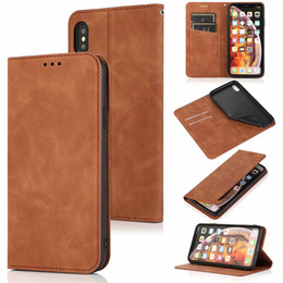 caixa da aleta do iphone Desconto PU Leather flip stand cartão Slots carteira Magnet Buckle Case for iphone11 pro Max XS MAX XR 6 7 8 PLUS Samsung S20 PLUS S20 Ultra S10 PLUS