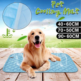 Tapetes de carro on-line-Pet Suave Verão Auto Refrigeração Mats Gel Pad Blanket Pet Dog Cat Calor Relief Car Seat Silk Ice Mat Arrefecimento Não Blanket Furar