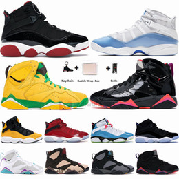 2021 multi ring box Nike Air Jordan Mit Box Jumpman 6 Ringe 6s Taxi UNC Concord Gym Red Herren-Basketball-Schuhe 7s Schwarz Patent Hare Oregon Ducks Frauen-Sport-Turnschuhe 36-47 günstig multi ring box
