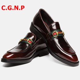 büro schuhe korea Rabatt C.G.N.P Korea-Art-beiläufige Schuh-Männer echtes Leder Loafers handgemachte Büro Formal Wedding Party Freizeit Marke Schuhe Loafers