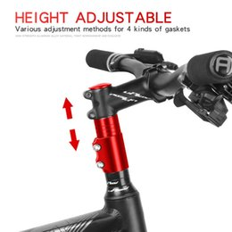 2020 lenkeraufsteher Bike Handlebar Fork Stem Riser Rise Up Extender Extension Heads Up Black Bicycle Adaptor Durable MTB Mountain Cycling Part rabatt lenkeraufsteher