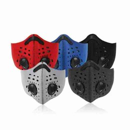 masque anti-poussière Promotion Outdoor Sports Anti-dust Mask for Riding Waterproof Dustproof Face Mask with Breathing Valve Riding Cycling Designer Masks CYZ2626 130Pcs