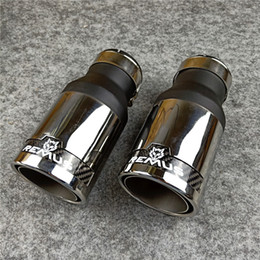 Black titanium Rear Exhaust Muffler Tip End Pipe Decor For Audi A6 C7 2016-2019