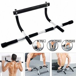 Porte pull up bar en Ligne-Nouveaux Pull Up Sit Up Door Bar Portable Chin-Up pour le haut du corps Workout Doorway sW6l #