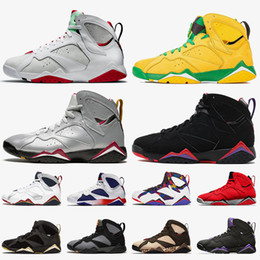 Topázio escuro on-line-2021 Jumpman Hare 7 Oregon Ducks Raptors Mens Womens 7s Sapatos de Basquete Patta Bordeaux Ray Allen Topaz Sneakers