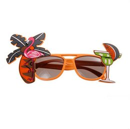 occhiali da sole flamingo  Sconti Occhiali tropicali Cocktail Beach Party Sunglasses Flamingo Goggles Stage Fancy Dress Eyewear Decorazione del partito