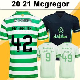 Camisa de manga curta marrom on-line-20 21 McGregor Griffiths Mens Futebol Jerseys Klimala Sinclair Forrest Brown Rogic Christie Ajeti Home Away 3ª Camisa de Futebol Manga Curta