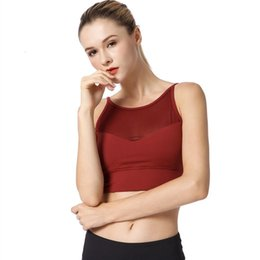 2020 exercice de remise en forme xl rouge Femmes Red Sports Bra Tops Gym Fitness Yoga sans couture sport Outfit Push Up Courir Backless Sexy exercice entraînement Bras Femme exercice de remise en forme xl rouge pas cher