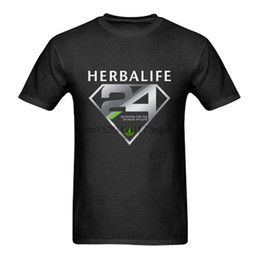 Superman preto camiseta on-line-T T-shirt do logotipo Herbalife Superman do Black Men Novo