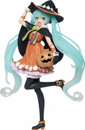 Brinquedos miku on-line-Toy Lensple Hatsune Miku Halloween Pumpkin Miku Anime Action Figure menina Collectible Modelo PVC boneca caçoa o presente Kawaii Com Box