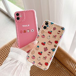 2021 iphone alimento Moda Fruit Food Frossproof Silicone Phone Case para iphone 11pro max xr x xs max 7 8plus bonito granular anti-skid borda macia tampa
