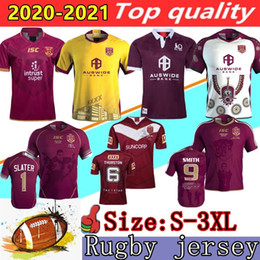 Camisas originais on-line-2020 2021 Malou Rugby League Queensland 19/20/21 QLD Maroons Malou Rugby Jersey Maroons Estado de Origin Rugby Shamp Short Size S-3XL
