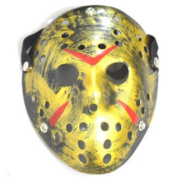 2020 jason horror-hockey-maske 2020 Archaistic Jason Maske Full Face Antique Killer-Maske Jason vs Freitag der 13. Prop Horror Hockey-Halloween-Kostüm Cosplay Maske OWD998 günstig jason horror-hockey-maske