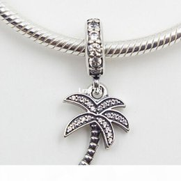 UK SELLER Large Palm Tree Necklace Charm in Tibetan Silver