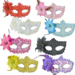 2020 eleganti mascherate maschere Sexy Masquerade Masks Flower Halloween Mask Dance Venetian Dance Party Bar Princess Venice Mask Party Elegant Mask Supplies LXL696 sconti eleganti mascherate maschere