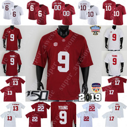 calcio alabama Sconti NCAA Alabama Crimson Tide del calcio Jersey 9 Bryce Giovane Tua Tagovailoa Jerry Jeudy Najee Harris Jaylen Waddle Mac Jones Devonta Smith