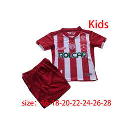 Vente de maillot de football mexique en Ligne-2020 Necaxa rouge Maillots de football 20 21 Mexique Club League Soccer manches courtes noir manches de football Uniformes ventes
