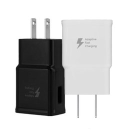 samsung s8 adattatore di alimentazione Sconti Veloce Adaptive Wall Charger 2A 5V USB Wall Charger Power Adapter per Samsung Galaxy S6 S8 S10 Nota 10 del htc android phone pc mp3