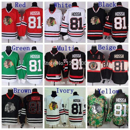 jersey da série do estádio de chicago blackhawks Desconto Cheap Men's Chicago Blackhawks Marian Hossa Hockey Jerseys 2014 Stadium Série # 81 Marian Hossa Jersey Black Stitched Jerseys