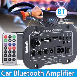 Home stereo-verstärker online-12V 24V 220V Bluetooth 5.0 High Power Digital Stereo Brett AMP Amplificador Audio Heimkino AMP MIC SD USB DVD