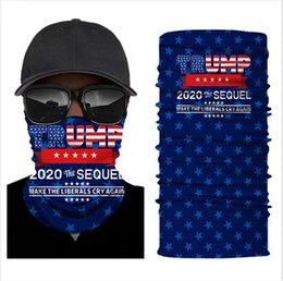 Bandanas da bandeira americana on-line-Trump Biden Magic Turban 2020 Election American Flag Outdoor Riding Headband Bandanas 36 Styles Face Mask DDA495