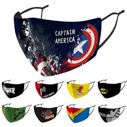 Kapitän amerika gesicht maske online-Maske Mode Kinder Gesicht Kinder facemask staub- Schutz Captain America Spiderman Batman Hulk Super Captain Marvel Maske Maske