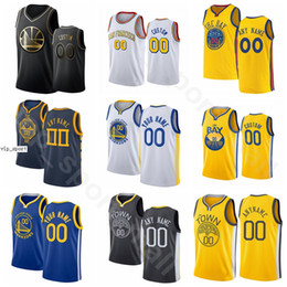Curry blanc blanc stephen en Ligne-Speaking imprimé basketball stephen curry jerseys thompson dradymond vert andrew wiggins eric paschall bleu blanc homme jaune femme jeune