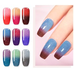 Lila grau nageldesign online-Eco-friendlyNICOLE DIARY 10g Thermal Dipping Nail Powder Grau Lila Nail Art Dekoration Keine UV-Lampe Cure Dip Nail Powder Art Design