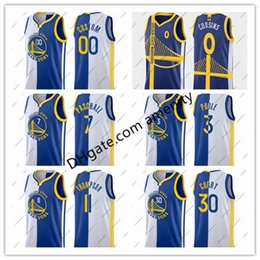 Stephen curry bianco blu online-personalizzato oro