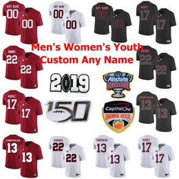 calcio alabama Sconti NCAA Alabama Crimson Tide maglie Mens Tua Tagovailoa Jersey Jerry Jeudy Jaylen Waddle Najee Harris College Football pullover su ordinazione cucito
