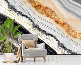 padrões de papel de parede modernos Desconto 3d 3d Wallpaper Modern Light Modern Luxury Abstract Pattern Marble Padrão TV Nordic Cristal Fundo da parede decorativa Mural Wallpaper