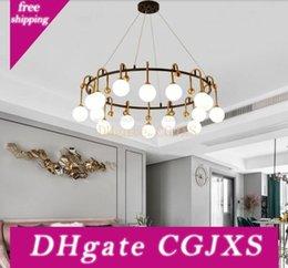 Nordic Diamond LED Chandelier lighting K9 Crystal Copper luxury hanging lamp for living room bedroom home deco creative fixtures