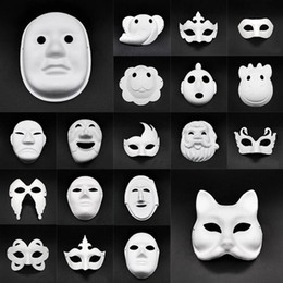 Adereços rosto do partido de diy on-line-Máscaras Máscaras DIY papel Masquerade Halloween Partido Cosplay dos desenhos animados Maske Baile de Carnaval das mulheres da cara Carnaval Masque Prop DHF654