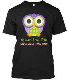 Gufo t-shirt online-T shirt Uomo OWL always love you - Whoo Whoo ... Si (1) Le donne Tshirt