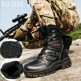 2020 botas de fuerzas especiales Men High Quality Brand Leather Boots Special Force Tactical Desert Combat Men's Boots Outdoor Shoes Ankle botas de fuerzas especiales baratos