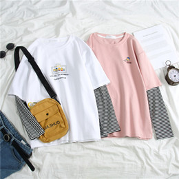 Bestes weißes tshirt online-Best Friend T-Shirts für Damen T-Shirt Harajuku Female T Tops Langarm Damen-T-Shirt Grund Tops Frau Shirts Weiß Tees Top