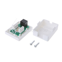 gota rj45 Desconto Cat6 RJ45 8P8C UTP Unshielded Single Port desktop Mount Box Drop Shipping