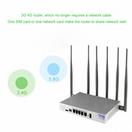 Vários modem on-line-1200 Mbps Multi-function 3G 4G Modem Router Wifi with Sim Card Slot Dual Band Router 4G Mobile PPTP L2TP 2,4 GHz 5 GHz UORO#