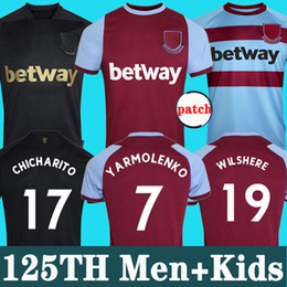 2020 jerseys nobles 125a camiseta de fútbol WEST HAM 20 21 United local visitante NOBLE jerseys 2020 2021 ANDERSON RICE NOBLE YARMOLENKO hombres + niños kit 125 años rebajas jerseys nobles