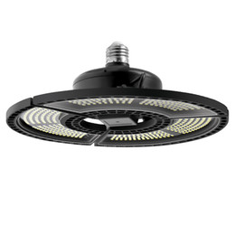 Umbrella square online-E27 LED Verformbare Faltgarage Lampe Super Helle Industrielle Beleuchtung 60W 80W 100W UFO High Bay Industrial Lampe für Lager