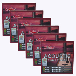 set di stringhe di chitarra acustica Sconti 6Sets Alice Acoustic Guitar Strings Phosphor Bronze Color Alloy Winding 6 Strings Set A208SL 011