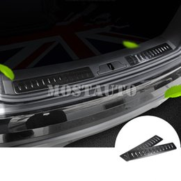 2021 peitoril da porta do land rover Para Land Rover Range Rover Velar Preto Bumper Rear Door Sill placa do Scuff 2017-2020 2pcs