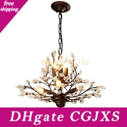 American Country Style Led Chandelier Light Fixtures Iron