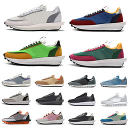 Белая спортивная обувь для мужчин онлайн-sacai x ldv waffle daybreak running Varsity Blue Mens Casual Shoes Summit White Black Nylon Wolf Grey platform Women men trainers Sports Sneakers Chaussures
