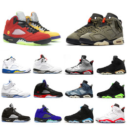 Top man mens schuhe online-Nike AIR JORDAN 6 Air Retro 5 Jumpman Was die 5 Cactus Jack 6 Herren Basketballschuhe Hyper Royal 5s Medium Olive Hare 6s Infrarot Top 3 Herren Turnschuhe Sportschuhe