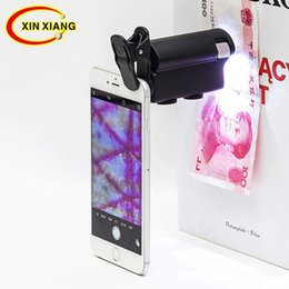 Handheld Magnifier 60X LED Mobile Phone Screen Magnifier,Folding Portable Clamp Microscope UV Phone Enlarger Amplifier Currency Detector Flashlight Multipurpose Personal Magnifier