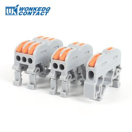 Soft Wire DIN Rail 20Pcs Compact Wiring Connector Terminal Block Hard Wire