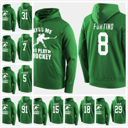 Kanada hoodies online-2019 Kanada Team Hockey Hoodies Trikots Custom Green St. Patricks Day Kiss Me Funny Player Sweatershirt 31 Kevin Poulin 8 Laura Fortino Vey